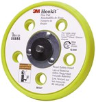 3M Hookit 88739 Mediano Negro Almohadilla de disco - 3 in diámetro - 11/16 in Grosor - Interno Rosca para Accesorio