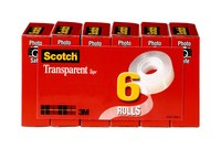 3M Scotch 600K6 Cinta de sellado de cajas Transparente - 3/4 pulg. Ancho x 1000 pulg. Longitud - 2.3 mil Grosor - 52787