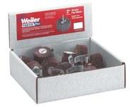 Weiler Óxido de aluminio Juego de ruedas laminada - Grados incluidos Fina, Mediano - diámetro incluido 1 pulg. - 36500