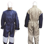 Chicago Protective Apparel Marino/Crema 2XG Nailon/Lienzo Overol para arenado - 605-CDN-CB-2XL-CLKP