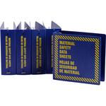 Brady Prinzing Amarillo sobre azul Carpeta de hojas de datos GHS y MSDS - MATERIAL SAFETY DATA SHEETS - Inglés/Español - 754473-45326