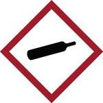 Brady 121192 Rojo/blanco/negro Diamante Poliéster Etiqueta de peligro de incendio - Altura 1.5 pulg. - B-7541