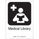 Brady B-401 Poliesterino de alto impacto Rectángulo Cartel/anuncio de biblioteca médica Blanco - 7 in Ancho x 10 in Altura - 142488