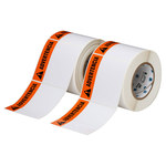 Brady THTEL-161-483-1-AV Negro/Naranja sobre blanco Cuadrado Poliéster Etiqueta de área peligrosa - Altura 4 in - B-483