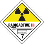 Brady 121441 Negro/Rojo/Blanco sobre amarillo Etiqueta de peligro de radiación - B-7569