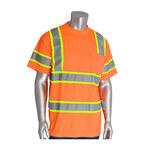 PIP 313-CNTSPLY Naranja Poliéster Camisa de alta visibilidad - Camiseta - Grado ANSI clase 3 - Para tamaño del pecho 51.2 pulg. - Longitud 31.1 pulg. - 616314-82719
