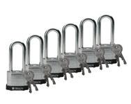 Brady Negro Acero 5 pernos Candado de seguridad con llave 51299 - Ancho 1 9/16 in - Altura 1 1/3 in - Número de llaves incluidas 2 - 662820-05041