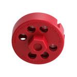 Brady Rojo Cable de bloqueo 122244 - 754473-71186