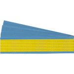 Brady Amarillo sobre negro Paño Flechas de inspección de tabla - Ancho 0.125 pulg. - Altura 0.19 pulg. - B-500