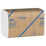 Scott Blanco 250 Toalla de papel - Plegado - Pliegues múltiples - 250 hojas por paquete - longitud total 9.4 pulg. - Ancho 9.2 pulg. - 01804