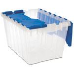 Akro-mils Keepbox 12 gal 25 lb Azul/Transparente Polipropileno Contenedor de tapa adjunto - longitud 21 1/2 in - Ancho 15 in - Altura 12 1/2 in - 66486CLDBL