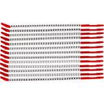 Brady Clip Sleeve SCN10-A-M Negro sobre blanco Manga a presión Nailon Manga de presilla - 33139