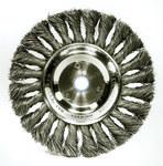 Weiler Acero Cepillo de rueda - Accesorio Eje - Agujero Central 5/8 a 1/2 in - Diámetro de la cerda 0.023 pulg. - 08105