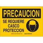 Brady B-401 Poliestireno Rectángulo Cartel de PPE Amarillo - 10 pulg. Ancho x 7 pulg. Altura - Idioma Español - 38961