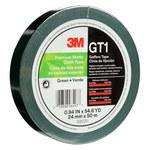 3M GT1 Cinta gaffer Verde - 24 mm Ancho x 50 m Longitud - 11 mil Grosor - 98497