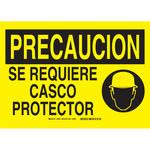 Brady B-401 Poliestireno Rectángulo Cartel de PPE Amarillo - 14 pulg. Ancho x 10 pulg. Altura - Idioma Español - 38981