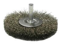 Weiler Acero inoxidable Cepillo de cerdas radiales - Diámetro de la cerda 0.008 pulg. - 17976