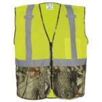 Global Glove Frog Wear Amarillo/Verde/Camuflaje Mediano Malla/Poliéster Chaleco de seguridad - 810033-29027