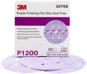 3M Hookit Óxido de aluminio Disco de gancho y bucle - Diámetro 6 pulg. - 30668
