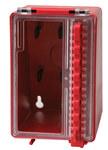 Brady Rojo Poliuretano Caja de bloqueo grupal 50938 - Ancho 4 pulg. - Altura 6.2 pulg. - Capacidad de Candado 8 - 754476-50938