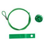 Brady Verde Cable de bloqueo 122252 - 754473-71195