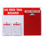 Brady Acrílico/papel Rectángulo Cartel de tablero de etiqueta roja Blanco - 122057