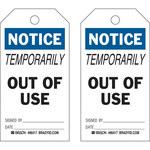Brady 86417 Negro/Azul sobre blanco Poliéster/papel Etiqueta de mantenimiento - Ancho 3 in - Altura 5 3/4 in - B-837