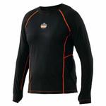 Ergodyne Core Performance Work Wear 6435 Negro Sintético Camisa de alta visibilidad - Camisa de manga larga - Para tamaño del pecho 41 a 44 pulgadas - 720476-40204