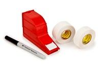 3M ScotchCode SWD-R Rollo de recarga de cinta de marcaje eléctrico Blanco - 3/4 pulg. Ancho x 1 3/8 pulg. Longitud - 56220