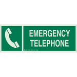 Brady Bradyglo B-347 Poliéster/poliestireno Rectángulo Cartel de ubicación de teléfono - 14 in Ancho x 5 in Altura - Brillo en la oscuridad - 90927