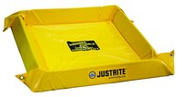 Justrite Amarillo PVC 10 gal Berma portátil - Ancho 2 pies - Longitud 2 pies - Altura 4 pulg. - 697841-15672