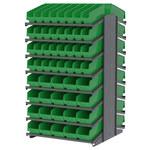 Akro-mils 1800 lb Verde Gris Acero 16 ga Doble cara Bastidor fijo - longitud total 36 3/4 in - 104 gavetas - Gavetas incluidas - APRD18AST00 GREEN