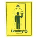 Bradley Señalamiento para estacion de lava ojos - Inglés - 114-050