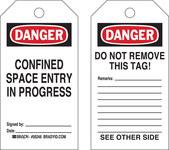 Brady 50248 Negro/Rojo sobre blanco Poliéster/papel Etiqueta para espacio restringido - Ancho 3 in - Altura 5 3/4 in - B-837