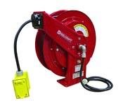 Reelcraft Industries Serie L 70000 75 pies Rojo Acero Carrete de cable - longitud total 19.75 pulg. - Ancho 8.25 pulg. - Altura 20.25 pulg. - 01815