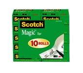 3M Scotch 810K10 Magic Cinta de oficina Transparente - 3/4 in Ancho x 1000 in Longitud - 51069