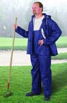 Dunlop Sitex 76599 Azul Grande Poliéster/PVC Traje de lluvia - 2 Bolsillos - Para tamaño del pecho 54 pulg. - Entrepierna 30 pulg. - 791079-12510