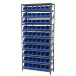 Akro-mils Azul Gris Acero 22 ga Sistema de estantería de bandeja de sistema - 10 gavetas - AS1279312 BLUE