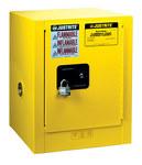 Justrite Sure-Grip EX 4 gal Amarillo Gabinete de almacenamiento de material peligroso - Cierre manual - Parte superior del banco - Ancho 17 pulg. - Altura 22 pulg. - Parte superior del banco - 697841-