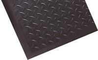 Notrax Cerradura superior de diamante 545 Negro Caucho Tapete antifatiga - Ancho 28 in - Longitud 31 in - 545 28 X 31 BLK SNGL