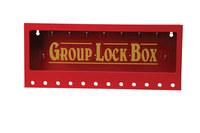 Brady Amarillo sobre rojo Acero Caja de almacenamiento de seguridad combinado 105715 - Ancho 16 pulg. - Altura 7 pulg. - Capacidad de Candado 12 - 754476-03772