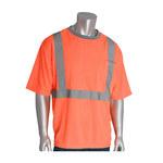 PIP 312-1200-OR Naranja Poliéster Camisa de alta visibilidad - Camiseta - Grado ANSI clase 2 - Para tamaño del pecho 53.1 pulg. - Longitud 29.1 pulg. - 616314-83099