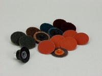 3M Roloc Recubierto Juego de discos de lijado - Accesorio Cambio rápido - diámetro incluido 1 1/2 pulg. - 82901