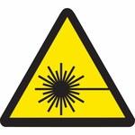 Brady 60198 Negro sobre amarillo Triángulo Vinilo Etiqueta/advertencia de peligro de láser - Altura 1 pulg. - B-946