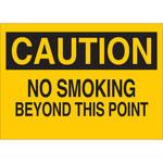 Brady B-302 Poliéster Rectángulo Letrero de no fumar Amarillo - 10 pulg. Ancho x 7 pulg. Altura - Laminado - 88347