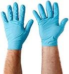 Kleenguard Azul Grande Nitrilo Guantes desechables - Grado Salud - acabado Liso - Longitud 9.5 pulg. - 036000-50580