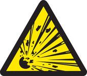 Brady 60182 Negro sobre amarillo Triángulo Vinilo Etiqueta de peligro de incendio - Altura 1/2 pulg. - B-946