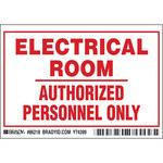 Brady 86218 Rojo sobre blanco Rectángulo Poliéster Etiqueta de acceso y seguridad - Interior/exterior - Ancho 5 pulg. - Altura 3 1/2 pulg. - B-302