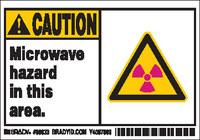 Brady 86833 Poliéster Etiqueta de peligro de radiación - Ancho 5 pulg. - Altura 3 1/2 pulg. - B-302