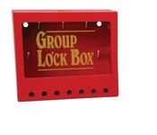 Brady Amarillo sobre rojo Acero Caja de almacenamiento de seguridad combinado 105714 - Ancho 8 pulg. - Altura 7 pulg. - Capacidad de Candado 7 - 754476-03771